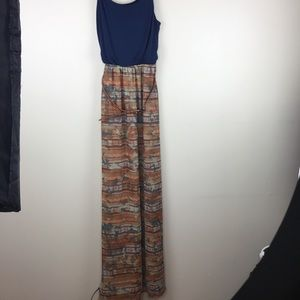 Cato Tank Top Maxi Dress Belted S Southwest print